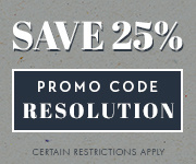 Save with promo code RESOLUTION